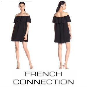 French connection ruffle off shoulder dress NEW